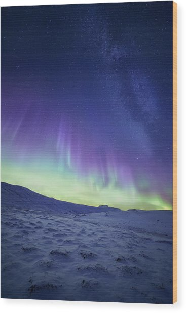 Northern Light Wood Print