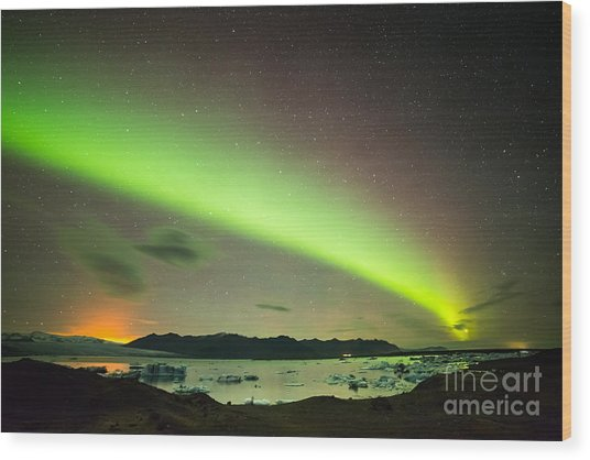 Northern Lights 6 Wood Print