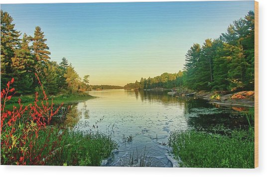Northern Ontario Lake Wood Print