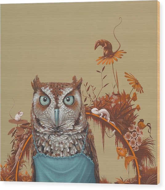 Northern Screech Owl Wood Print