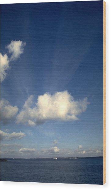 Northern Sky Wood Print