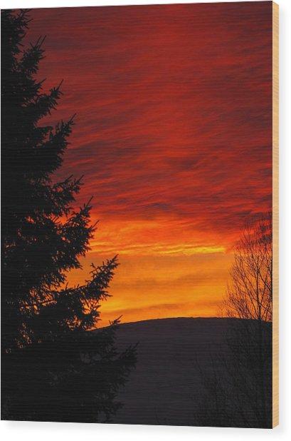 Northern Sunset 2 Wood Print