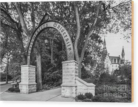 Northwestern University The Arch Wood Print