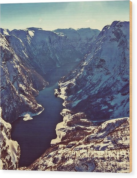 Norway Mountains Wood Print