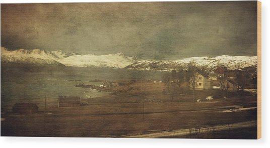 Norwegian Coast Wood Print