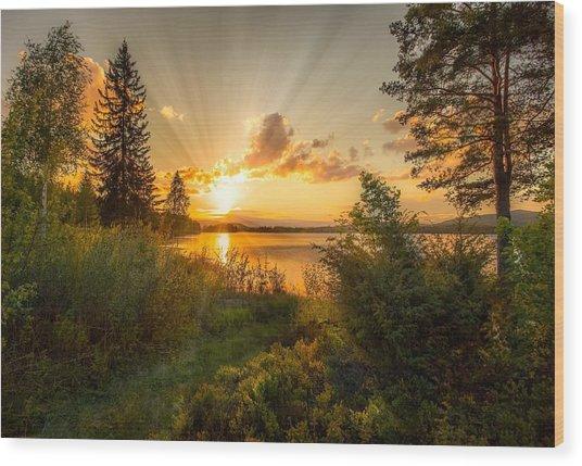 Norwegian Landscape Wood Print