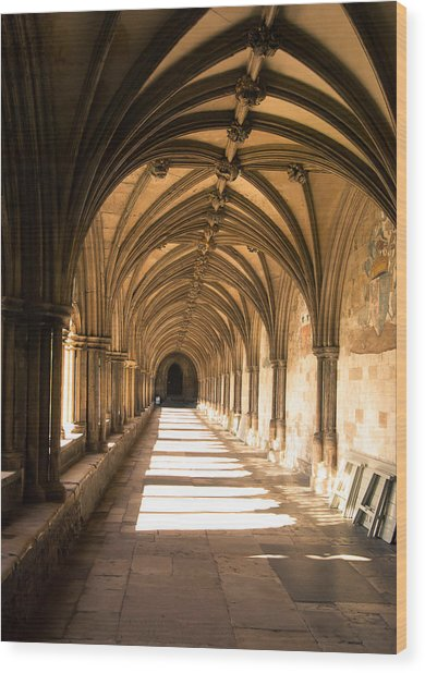 Norwich Cathedral Portico  Wood Print