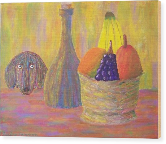 Not So Still Life Number One Wood Print by Ricky Gagnon