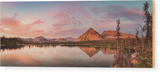 Notch Lake Panorama Wood Print by Johnny Adolphson