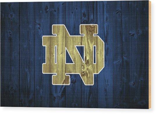 Notre Dame Barn Door Wood Print