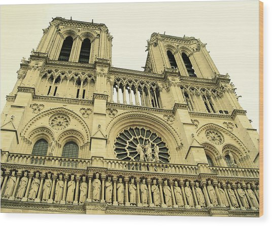 Notre Dame De Paris Wood Print by JAMART Photography