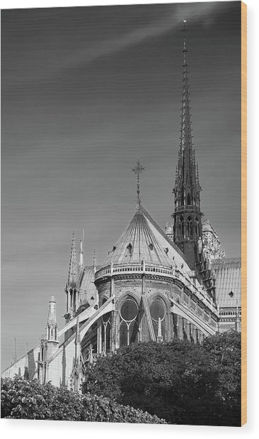 Notre Dame, Paris, France. Wood Print