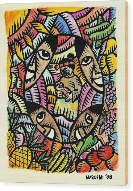 Nourishing The Island Children Wood Print