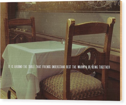 Nouvelle Quote Wood Print by JAMART Photography