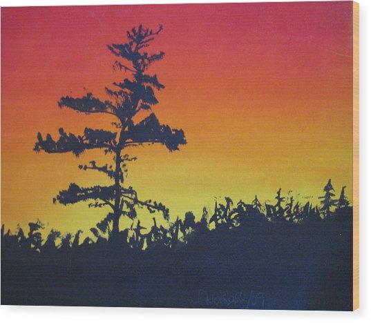 Nova Scotia Tree Wood Print by Tabitha Marshall