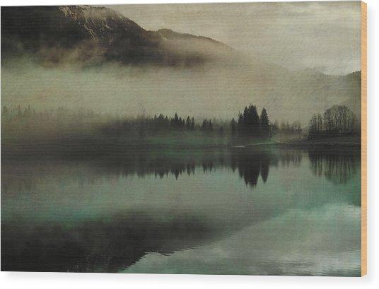 November Lake Wood Print