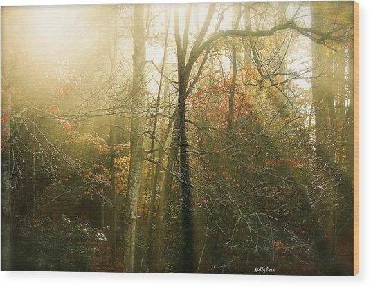 November Light Wood Print by Molly Dean