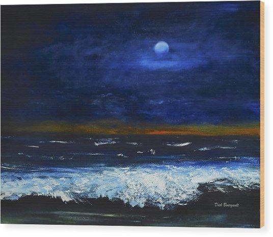 November Sunset At The Beach Wood Print