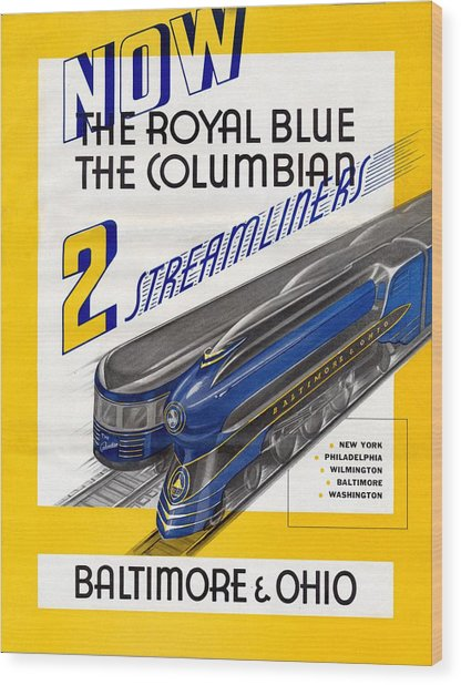 Now The Royal Blue The Columbian Wood Print
