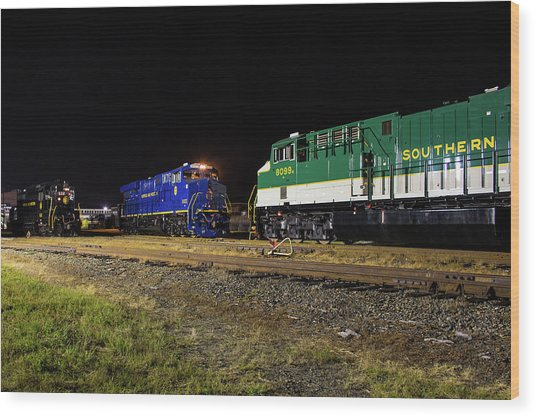 Ns Heritage Locomotives Family Photographs 8103 Night 12 Wood Print