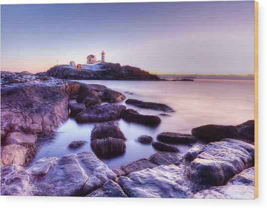 Nubble In The Morning Wood Print