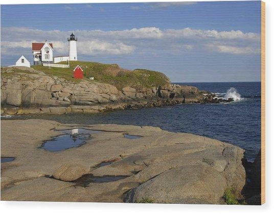 Nubble Light Maine Wood Print