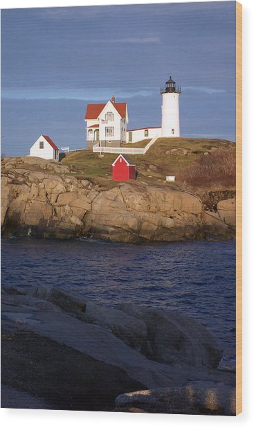 Nubble Lighthouse  Maine Wood Print
