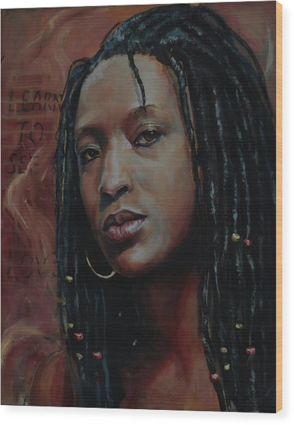Nubian Dream 2.1 Wood Print