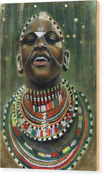 Nubian Dream Wood Print