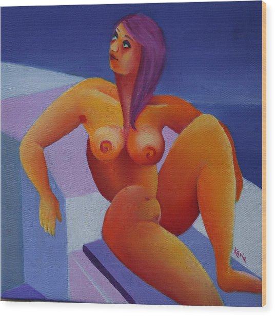 Nude 5 Wood Print by Karin Eisermann