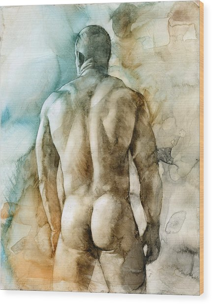 Nude 51 Wood Print by Chris Lopez