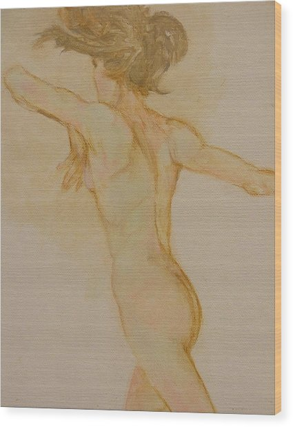 Nude Dancer Wood Print by Gary Kaemmer