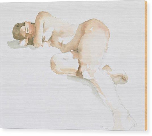 Nude Wood Print by Eugenia Picado