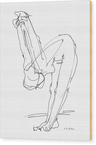 Nude Female Drawings 10 Wood Print