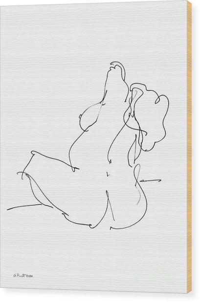 Nude-female-drawings-20 Wood Print
