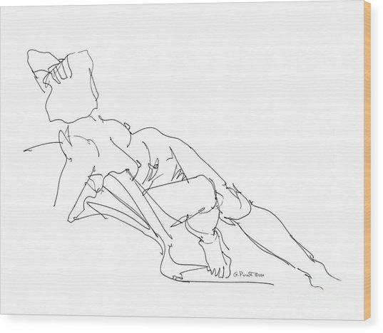 Nude Female Drawings 3 Wood Print