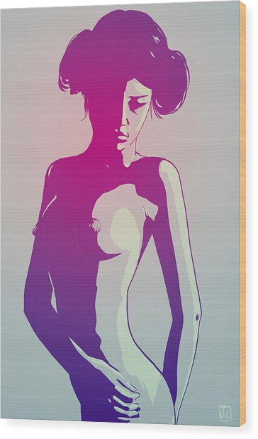 Nude Princess Leia Wood Print