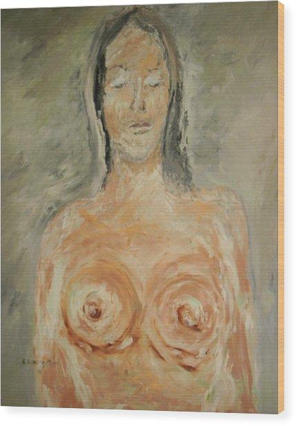 Nude Sleeping Wood Print by Edward Wolverton