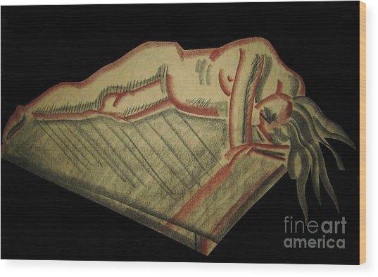 Nude Sleeping Three Of Three Wood Print