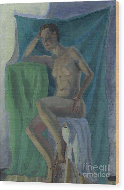 Nude  Wood Print by Timothy Winiarski