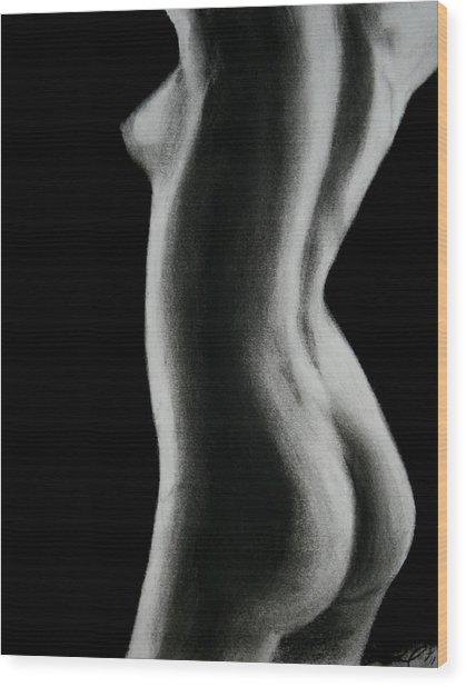Nude Woman Wood Print