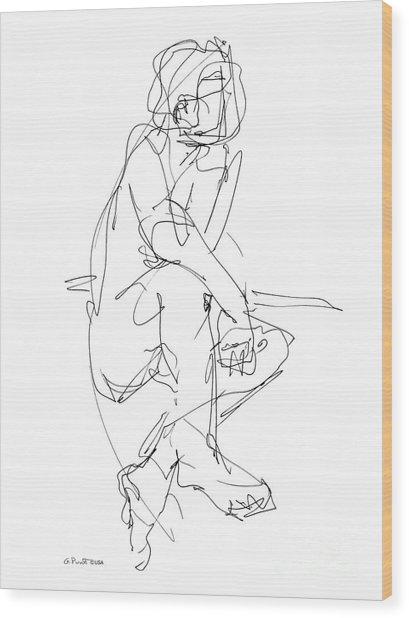 Nude_male_drawing_29 Wood Print