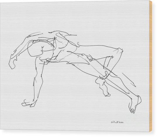 Nude_male_drawings_23 Wood Print