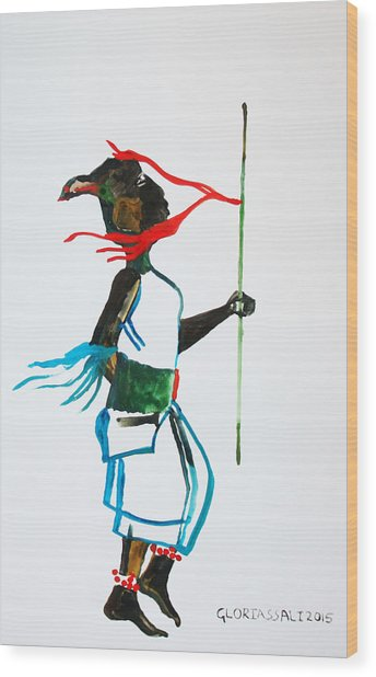 Nuer Dance - South Sudan Wood Print