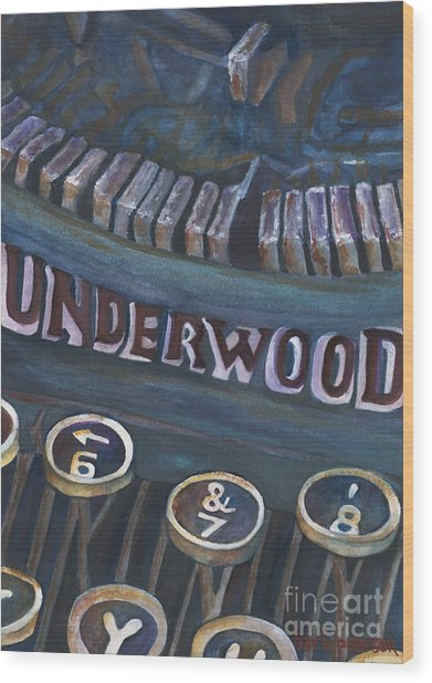 Number 7 Wood Print by Barb Pearson