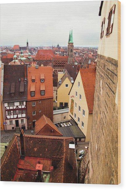 Nuremberg Cityscape Wood Print