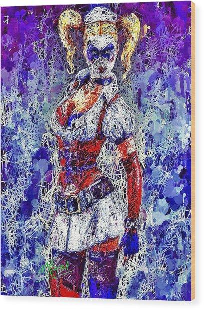 Nurse Harley Quinn Wood Print