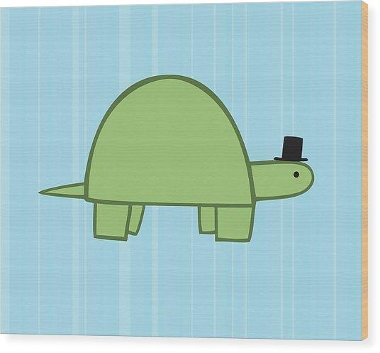 Nursery Art Boy Turtle Wood Print