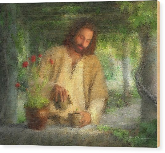 Wood Print featuring the painting Nurtured By The Word by Greg Olsen