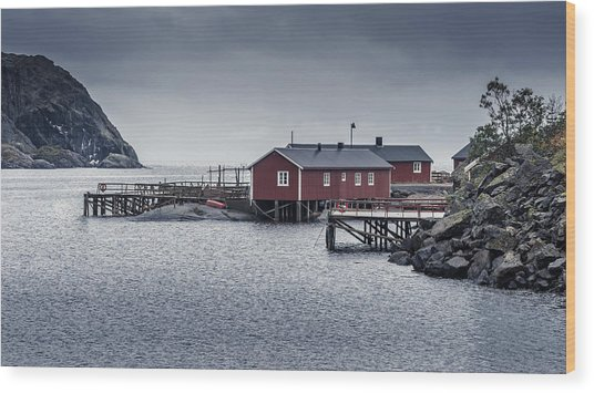 Wood Print featuring the photograph Nusfjord Rorbu by James Billings